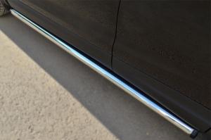 Nissan Qashqai 2014- Пороги труба d63 (вариант 2) NQQT-001789